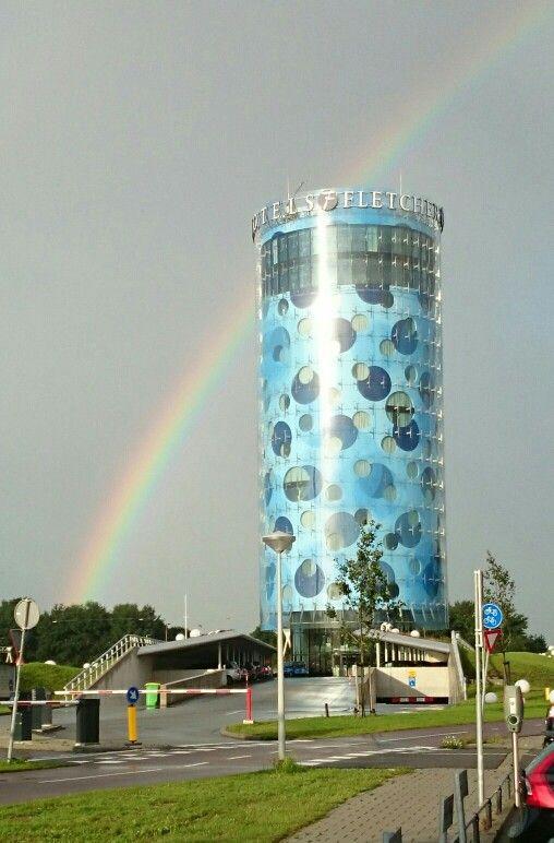 Regenboog  bij Fletcher hotel Amsterdam