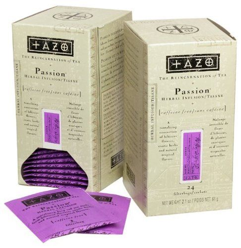 Tazo Passion Fruit Tea for sleep and insomnia, relieves anxiety, relaxes muscles,