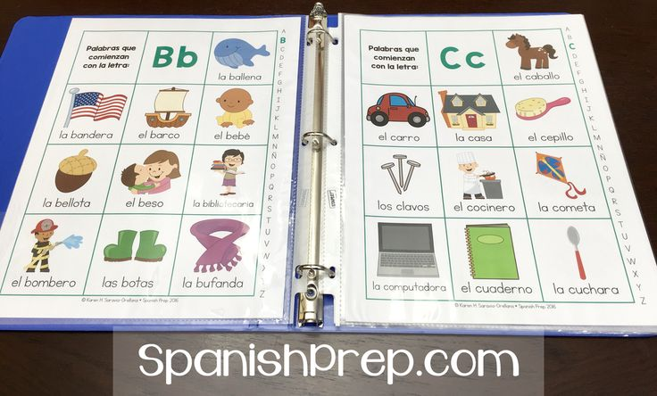 Spanish Picture Dictionary - Use as a personal dictionary: Print the picture pages and the blank pages back to back (in color or black and white) for students. It can be stapled together or put in a binder inside sheet protectors.