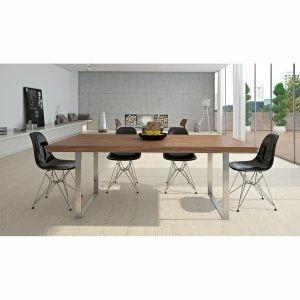 Aeon Jordan Dining Table Has A Walnut Veneer With Elm Undersides