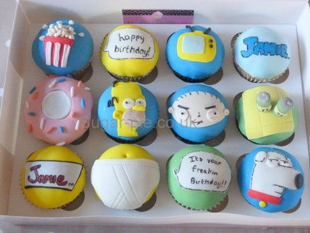 Simpson & Family Guy cupcakes: Cup Cakes, Awesome Beautiful Cakes, Cupcake Wife, Guy Cupcakes, Yummy Cupcakes, Cupcake Ideas, Delicious Cupcakes, Cake Cake