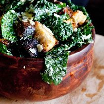 Delicious-looking inspiration for that bunch of kale you just bought. Hail kale Caeser salad!
