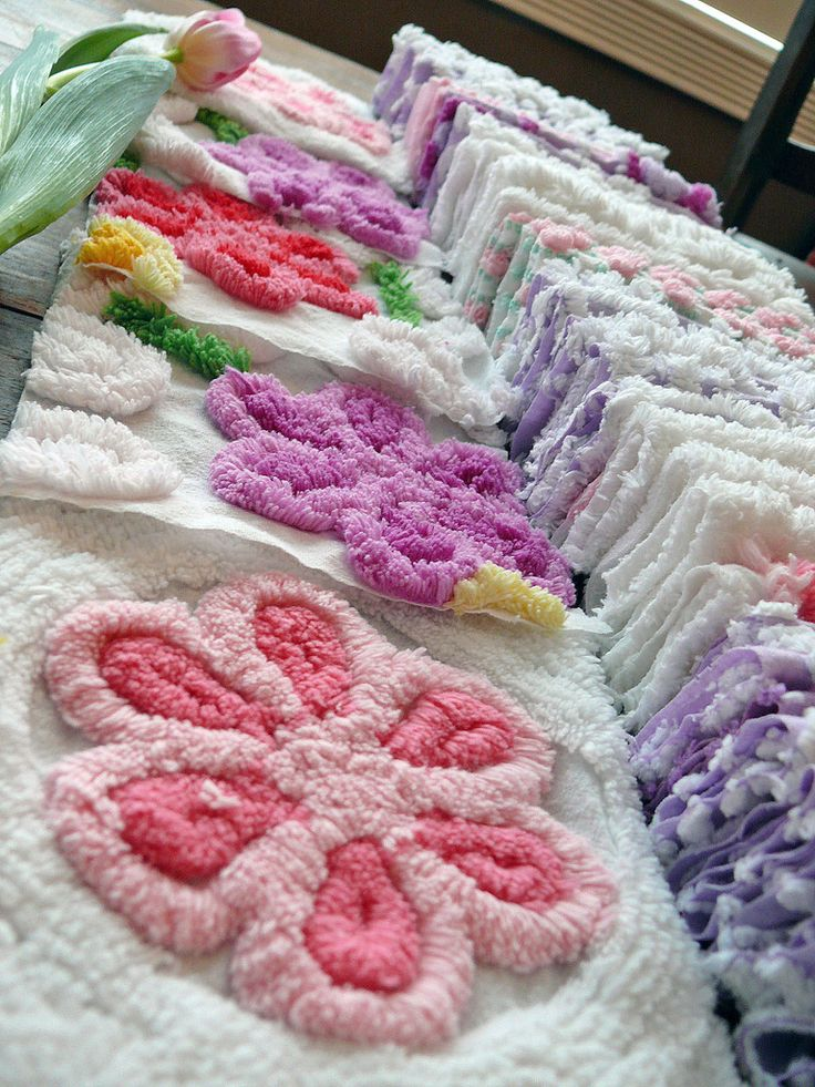Yummy Chenille Squares Flowers | Flickr - Photo Sharing!