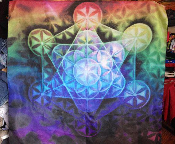 Rainbow Spectrum Airbrushed Flower of Life by MaverickCreatriX