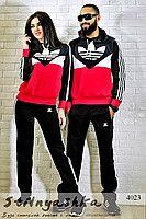 Спортивный костюм мужской и женский Adidas черный лопух 4023