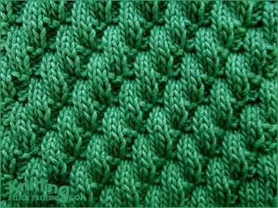 Broken Diagonal Rib    Knit & Purl Stitch Combinaltions