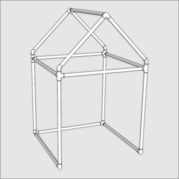 Small PVC Playhouse Kit - Make your own | FORMUFIT