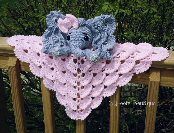 Oooo so much cuteness!!! Courtney from 3 Hoots Boutique made her Josefina lovey form Bernat Softee Baby yarn by Yarnspirations, what a great yarn idea!  Pattern from --> https://irarott.com/Elephant_Security_Blanket_Crochet_Pattern.html