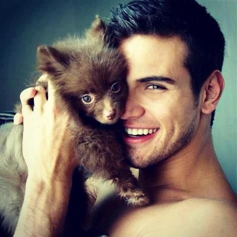 pictures of cute guy werewolves | Hot Guys with Puppies