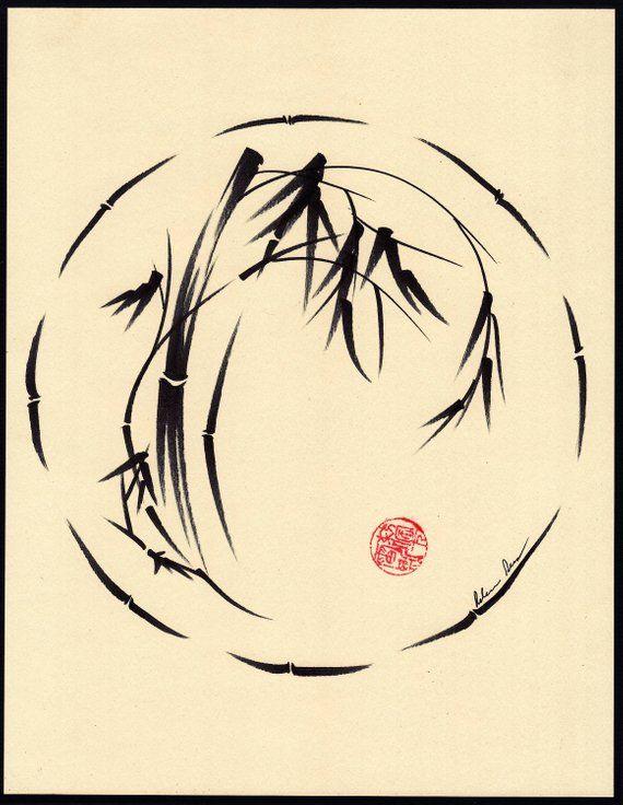 Original Enso Zen Painting Throw Pillows: Original Enso Sumie Ink Brush Pen Zen