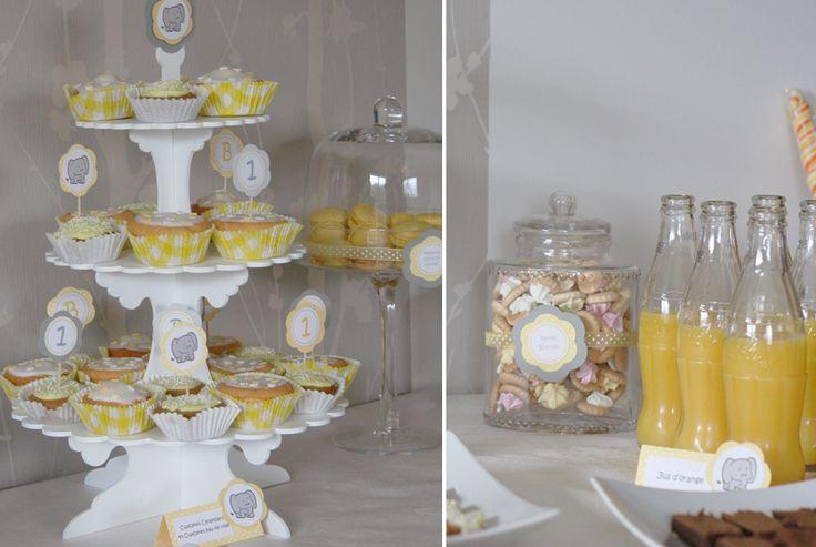 le candy bar sweet table etc sweet table jaune et gris d coration pour mariage. Black Bedroom Furniture Sets. Home Design Ideas
