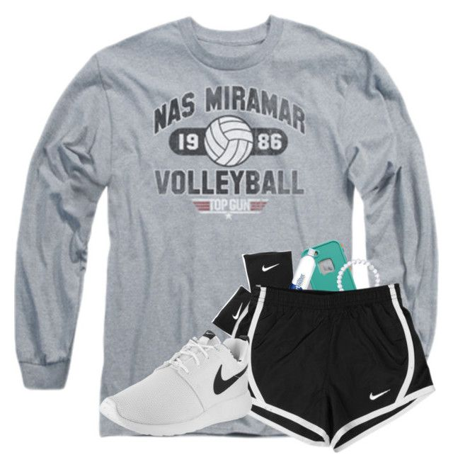 """Final Volleyball Tryout Today!!"" by kennabug10 ❤ liked on Polyvore featuring NIKE, LifeProof and Everest"