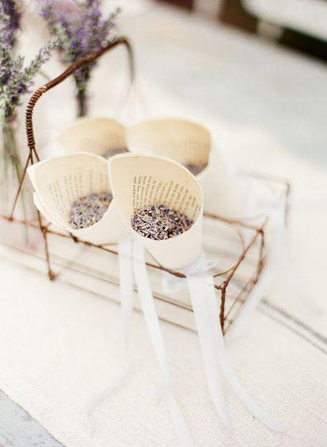 Lavender confetti cones #French #Country #Wedding …