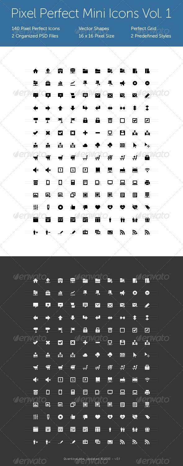 Pixel Perfect Mini Icons Vol. 1