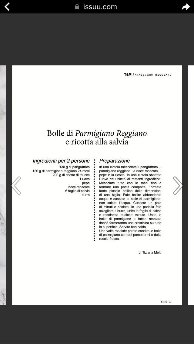 Bolle di Parmigiano e ricotta con burro e salvia