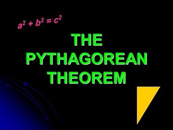 This 20 slide PowerPoint Lesson covers the vocabulary for Pythagorean Theorem, theorem vs. converse, finding the missing lengths of right triangles (for a, b and c), applications of the Pythagorean Theorem, finding perimeter and area of triangles with missing measurements, and Pythagorean Triples.