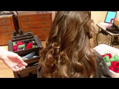 How To Curl Your Hair With Velcro Rollers: Big Wavy Curls: Final Results (Part 2 of 2)