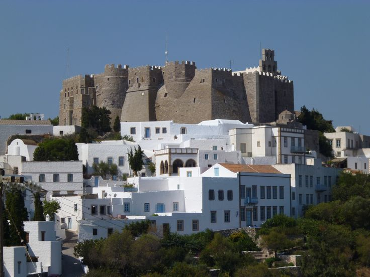 Monastery of Saint John the Theologian, Patmos. Founded by Holy Christodoulos. In 1088 a gifted and educated monk called Christodoulos otherwise known as 'Latrinos' requested and was granted possession of all the island by the Byzantine Emperor Alexius I Comnenos to establish a Monastery in honour of Saint John the Evangelist and to transform the Cave of the Apocalypse into a sacred place. http://www.google.com/culturalinstitute/collection/patmos-monastery?museumview&projectId=art-project