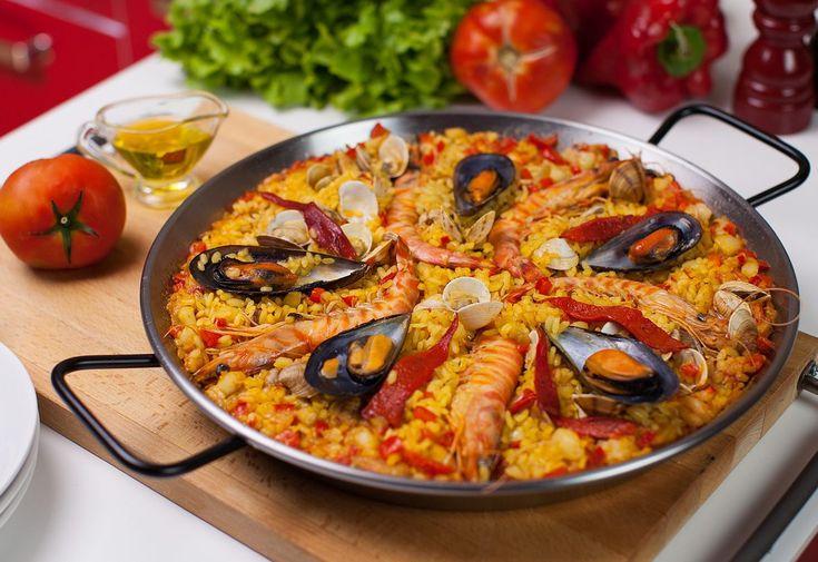 Elabora la famosa paella de mariscos fácil, ingredientes paella de marisco, como hacer paella de marisco fácil, receta paella marinera