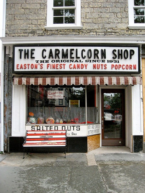 The Original Carmelcorn Shop Easton PA by Mod Betty / RetroRoadmap.com, via Flickr