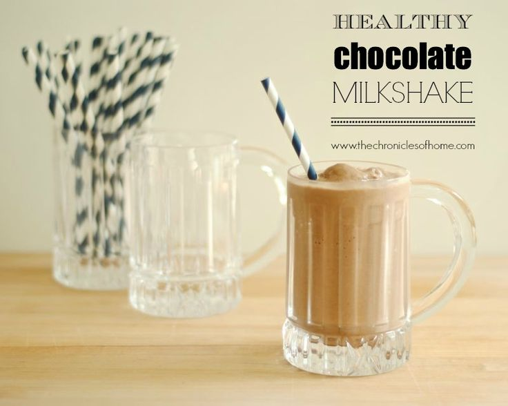 A Healthy Chocolate Milkshake