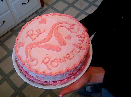 The cake I would give to my future daughter when she gets her first period. Like the phrase, sans uterus :-P