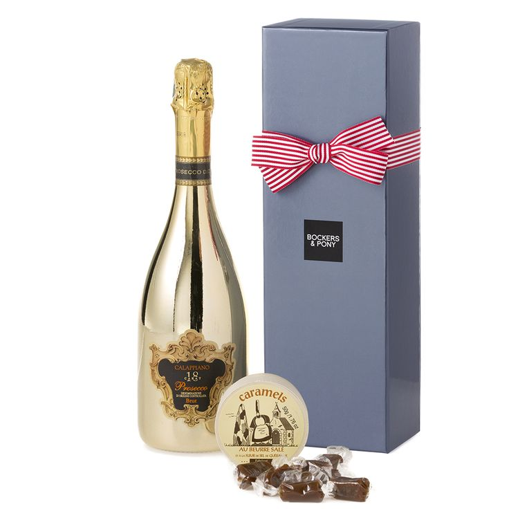 Sensi 18K Gold Calappiano Prosecco + Caramels   Champagne + Wine Hampers   GIfts For Her   Bockers & Pony