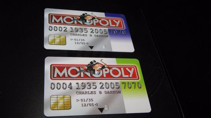 Monopoly Electronic Banking Game 2011 Replacement Pieces 2 Credit Cards #Hasbro