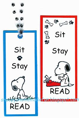 SNOOPY TUESDAY ~ SNOOPY BOOKMARKS