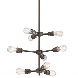 Industrial Style Chandelier with Edison Bulbs