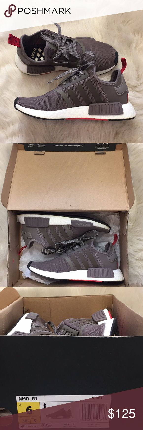 Adidas NMD R1 Authentic Adidas nmd's! Brand new with box. Size 6 women's. Taupe color adidas Shoes Sneakers