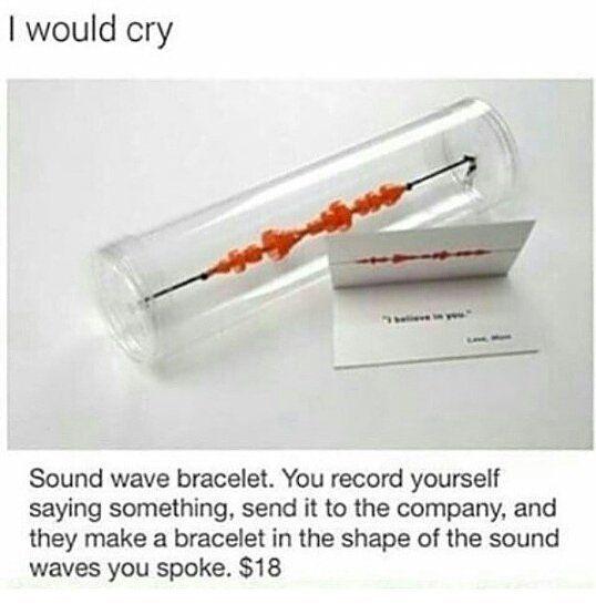 Sound wave bracelet