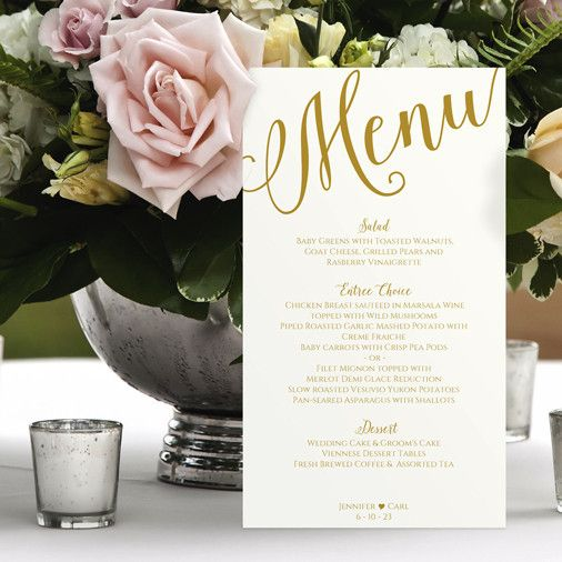 Menu Template | Calligraphy | Gold                                                                                                                                                                                 More