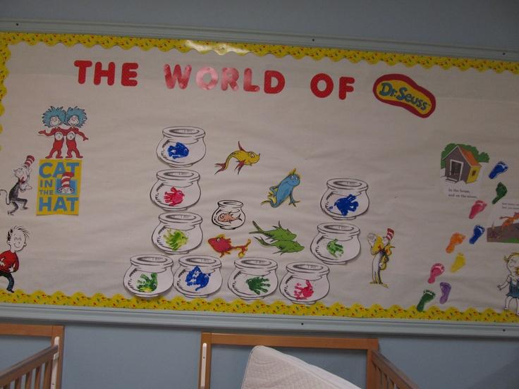 Dr. Seuss infant classroom bulletin board.