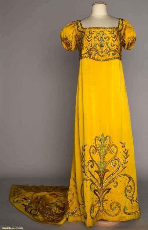 Empress Josephine Fancy Dress   House of Lanvin  1890-1920  Augusta Auctions