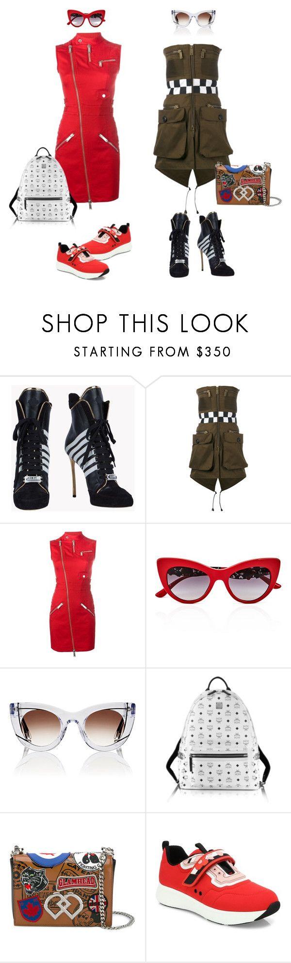 """Мини-платья от Dsquared2"" by repriza on Polyvore featuring мода, Dsquared2, Dolce&Gabbana, Thierry Lasry, MCM и Prada"