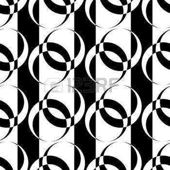 Patr�n sin fisuras con los elementos del c�rculo en la textura de rayas. Vector de arte. photo