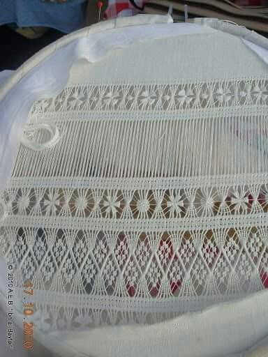 drawn thread lace
