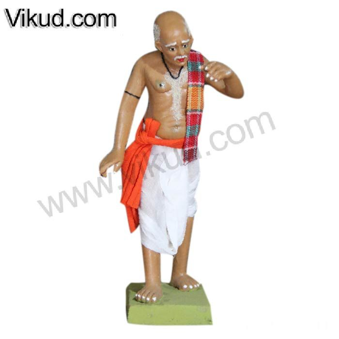 Terracotta-Rajasthani Old Man Doll- (6 1/2  Inches)