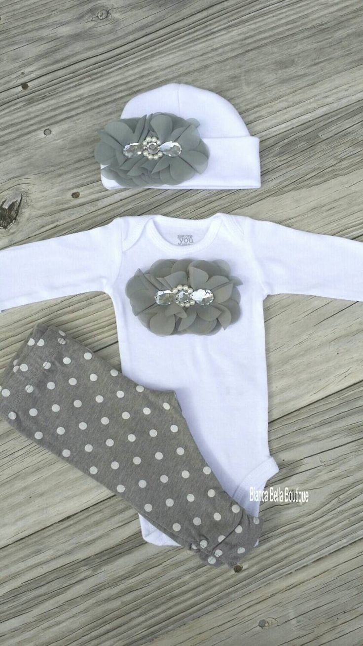 Newborn Take Home Outfit Baby Girl Outfit Newborn Outfit Coming Home Outfit  Going Home Outfit Baby Girl Photo Outfit Hospital Outfit by BiancaBellaBoutique on Etsy https://www.etsy.com/listing/220891919/newborn-take-home-outfit-baby-girl