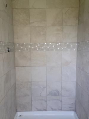 ivetta white shower walls with mosiac strip big and small pattern from other floor pin with