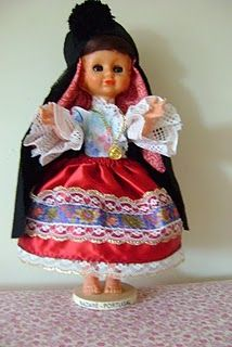 Dressed with the clothings characteristic of Nazaré, with their seven skirts,Portugal