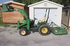 JOHN DEERE 4100 4 WHEEL DRIVE COMPACT TRACTOR LOADER 4 FOOT BUSH HOGfinance tractors www.bncfin.com/apply