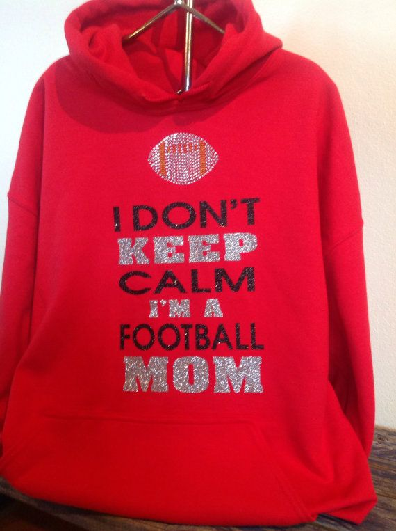 Keep calm football mom hooded sweatshirt by TripleMEmbroidery, $30.00