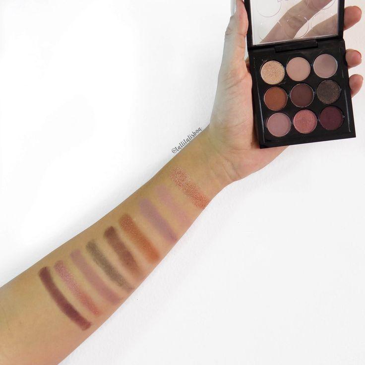 paleta de sombras mac burgundy times nine. paleta de sombras tons neutros. paleta com tons de vinho.