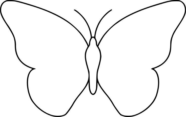 Coloriage Papillon Simple À Imprimer Sur Coloriages destinés à Coloriage Papillon Simple ...