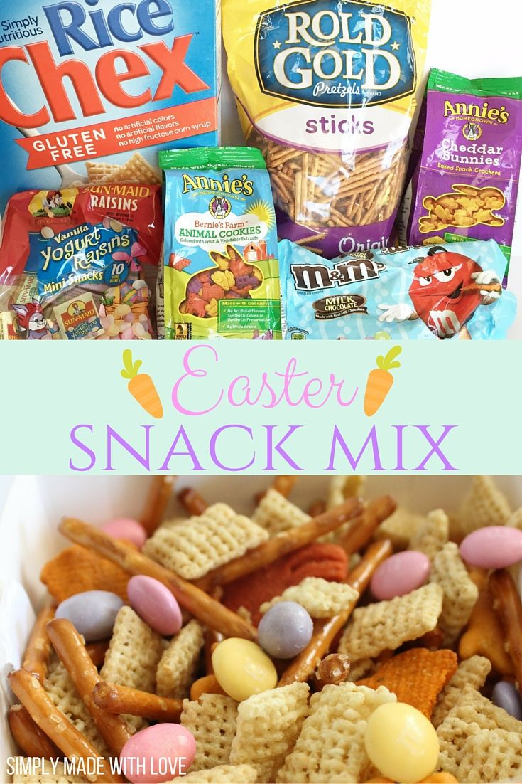 Easter Snack Mix, perfect for egg hunts, playdates and more!