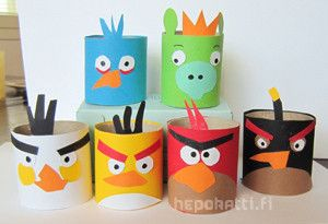 Askarteluohje Angry Birds   Hepokatti.fi - puuhaa ja tekemistä lapsille >> askarteluohjeita lapsille, värityskuvia, tehtäviä lapsille, leikkivinkkejä ja pelejä