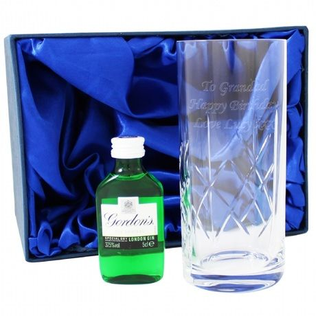 DAD: Personalised Crystal Glass & Gin Gift Set