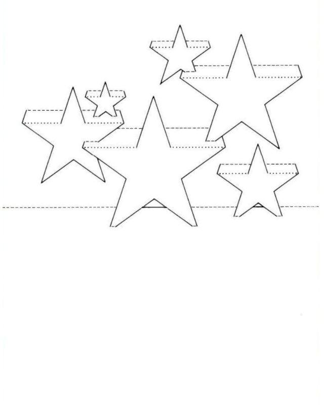 Шаблон открытки с звездами